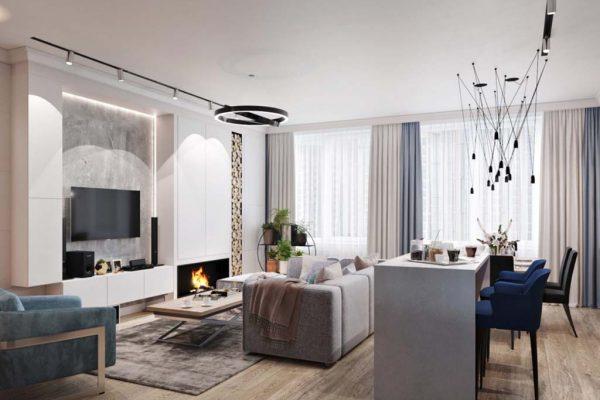 Дизайн интерьера квартиры 68м2