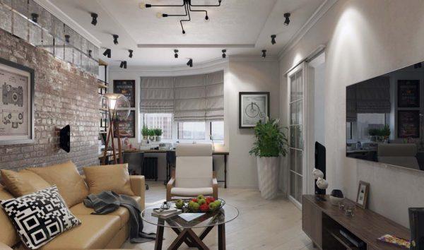 Дизайн проект квартиры 56 м2
