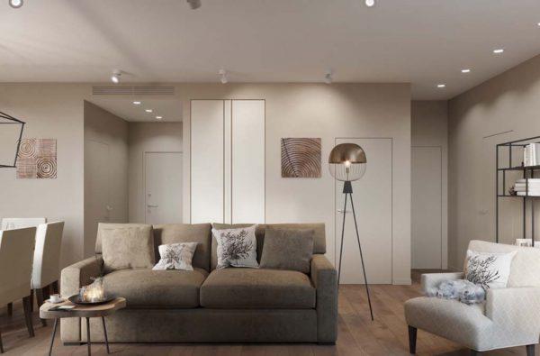 Дизайн проект квартиры 76 м2