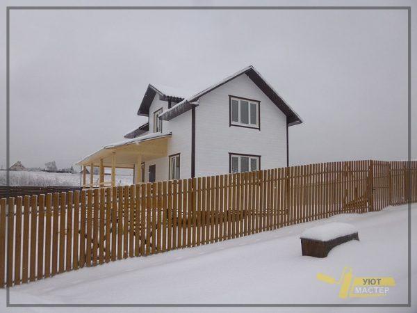 Строительство дома 54 м2