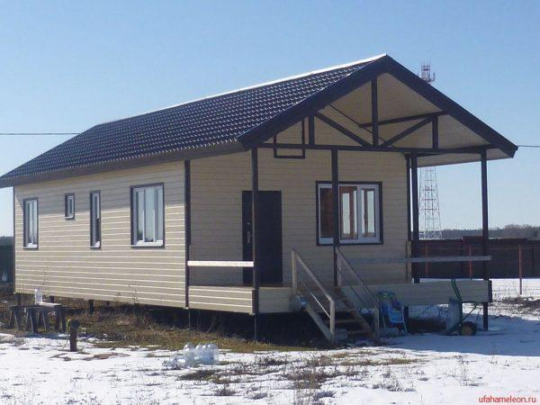 Каркасный дом 54 м2