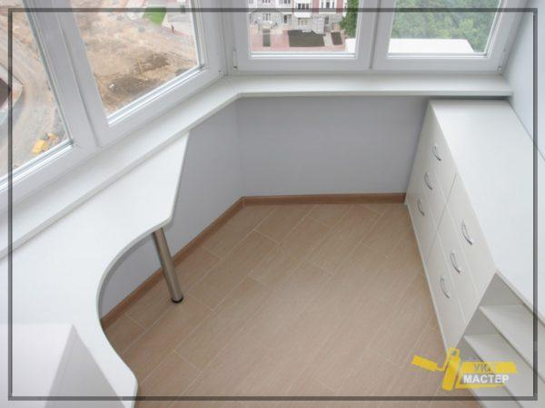 Ремонт балкона 2 м2