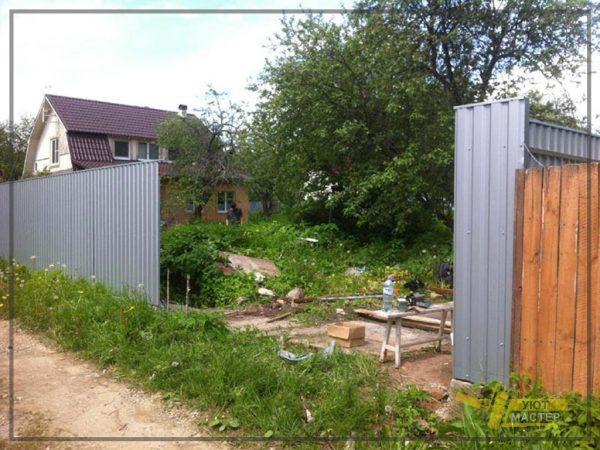 Забор из профнастила 50 пм