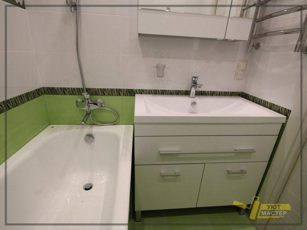 Ванная под ключ 2.6 м2
