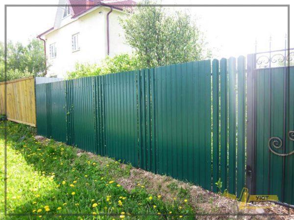 Забор из профнастила 70 мп